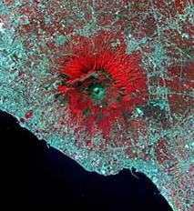 Vesuvius in Infrared